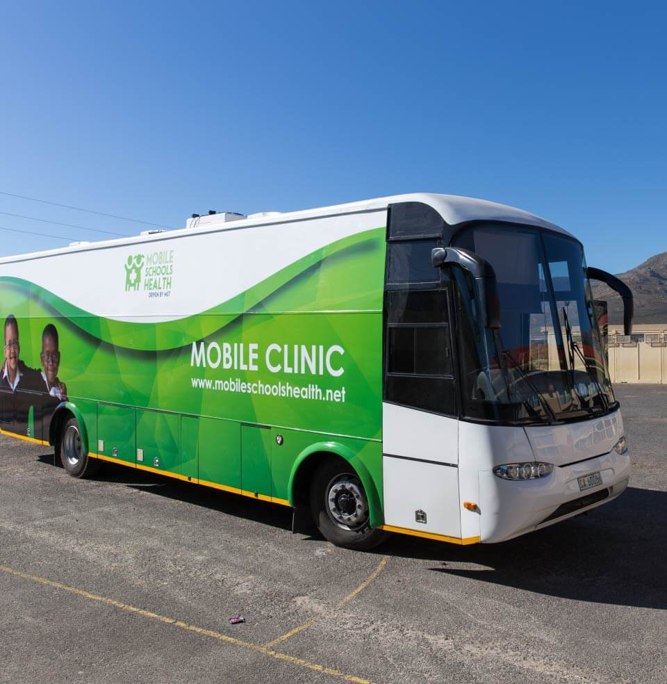 Mobile Schools Health mobile clinic bus